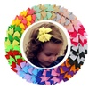 "40 Pcs Girls Kids Toddler 3"" Grosgrain Ribbon Boutique Hair Bows"