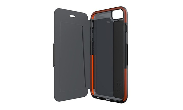 quality design 3ffda dfad0 Tech21 Impactology Classic Frame Shell Wallet for iPhone 6s Plus Black