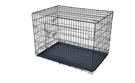 "48"" XXXL Dog Crate W/Divider Double-doors Folding Metal Dog Cage"