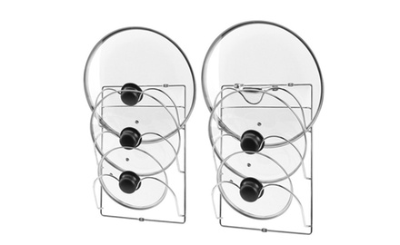 Cabinet Door / Wall Mount Pot Lid Organizer Rack � Pack of 2