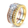 Elegant Mix Color Cubic Zirconia Wedding Ring For Women