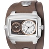 Fossil Men's Leather Cuff Dual Time Analog Watch