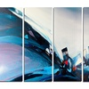 Blue Panoramic Abstract Design - Abstract Metal Wall Art