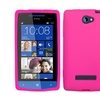 Insten Solid Skin Case (Hot Pink) for HTC: 8S (Accord)