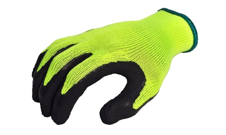 Hi-Visibility MicroFoam Texture Grip Palm Garden and Work Gloves (6-Pack)