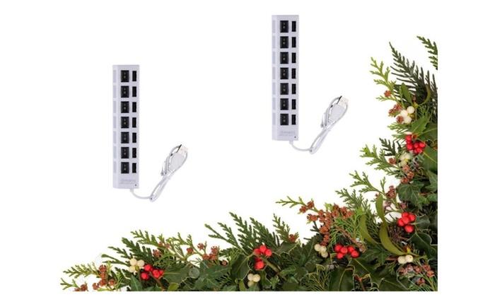 Adapter Splitter 7 Port Slot Tap USB 2.0 Hub & 1Extra Hug Adapter Free