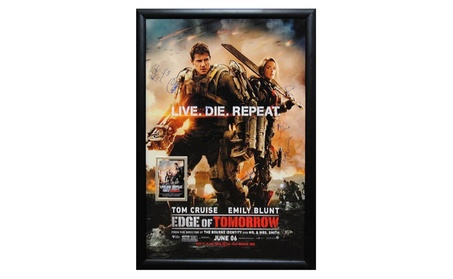 Edge of Tomorrow - Signed Movie Poster in Wood Frame with COA 662b068c-e9ef-4b5a-ad04-5c7760cabf94