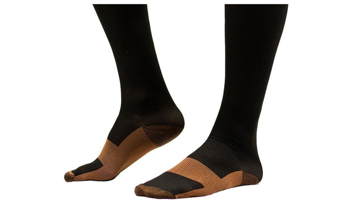 fc0edd8e98154 6 Pairs Unisex Copper Infused Compression Socks For Pain Relief ...