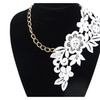 Vintage Tassel Punk Elegant Style Lace Flower Pendant Necklace
