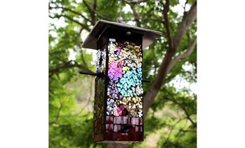 Mosaic Stained Glass Bird Feeder
