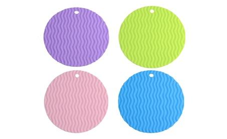 Silicone Mat Hot Pads Non-slip Thick Silicone Trivet (4 Pcs) f898f870-930b-45be-8f1f-46e1ac85e934