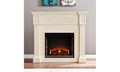 Calvert Carved Electric Fireplace - Ivory 2565ccda-a017-45fb-883a-cc4f66e72ac3