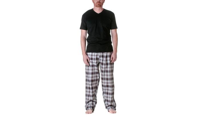 TruFit Mens Cotton Plaid Pajama Set 9005TBS