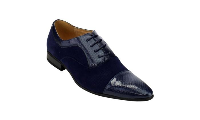 Beston FC81 Men's Lace Up Cap Toe Slip On Oxford Dress Shoes