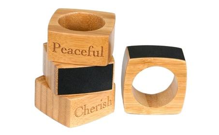 Inspirational Bamboo Napkin Rings with Chalkboard Labels 4b2aa4de-c694-4e24-bda6-a0e7614906df
