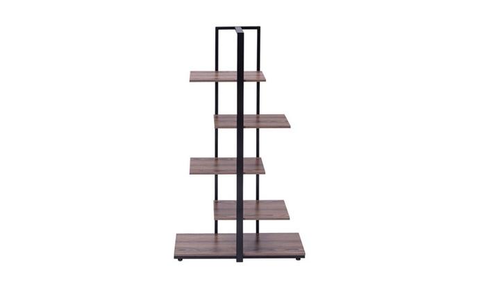 Modern Open Concept Display Etagere Shelf Bookshelf Tower