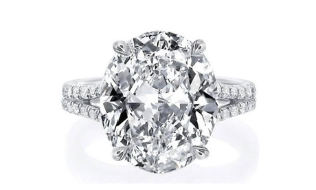 4.00CTTW Oval Cut Crystal Ring Made With Crystals From Swarovski