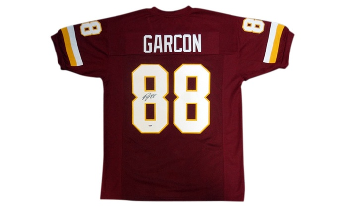 check out 9fdc9 a67dc Autographed Pierre Garcon Washington Redskins Red Custom Jersey