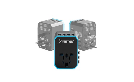 Insten Universal World Travel Charger Adapter Plug Hub w/USB Type-C 74f886b5-2783-4f94-b488-da31ab24c1ab