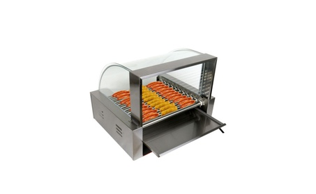Commercial 30 Hot Dog 11 Roller Grill Hotdog Cooker Machine W/ cover 777e2664-e99c-4597-9f20-8989bec5d87a