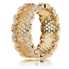 Authentic Honeycomb Lace Ring, 100% 925 Sterling Silver & Gold