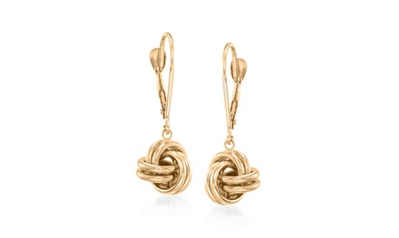 14K Gold Plated Mesh Knot Lever back Earrings Was: $99.99 Now: $12.99.