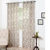 Lavish Home Andrea Embroidered Curtain Panel Pair
