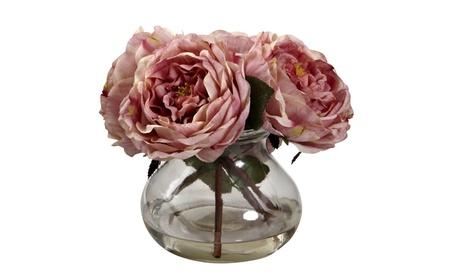 Nearly Natural Fancy Rose With Vase e38cb3ff-6d1b-4e44-af3e-f85b695698ef