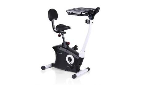 SereneLife Upright Exercise Bike Fitness Machine with Laptop Tray SLXB9 2326a8a3-0fb4-4a87-8dc4-3a40adb5c9eb