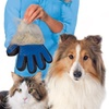 QPower Quality iPets  Dog Cat Five Finger De-Shedding Glove