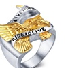 LIVE TO RIDE,RIDE TO LIVE Polished Biker Stainless Steel Ring for Men