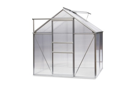 6'x4' Walk in Garden Greenhouse Plant Heavy Duty Polycarbonate Roof f2ecf56a-e632-480e-955c-f8e780d8ce36