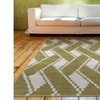 Grace Taupe Zic Zac Rectangle Plush Indoor Rug