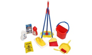 Kids' Pretend Play Cleaning Set (10-Piece)