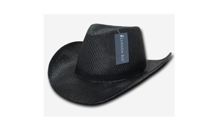 Decky 539-PL-BLK-07 Paper Mesh Cowboy hat Plain Extra Large - Black Black  Label Acrylic original.jpg 1d316b017f6a