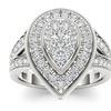 10k White Gold 1ct TDW Diamond Pear Shaped Engagement Ring (H-I, I2)