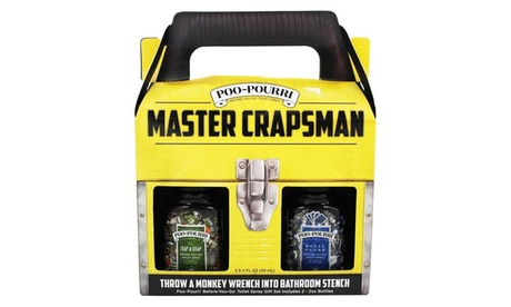 Poo Pourri Master Crapsman Two Piece Gift Set 4a20b14f-f0ef-4ea9-8cf4-2dcb27d63780