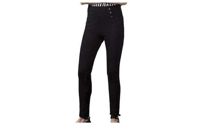 Women's Solid Fashion Mid Rise Skinny Simple Leggings