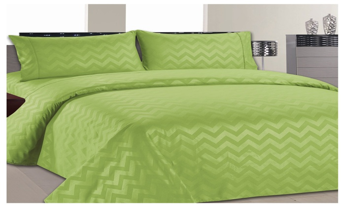 Home Sweet Home Dreams Inc: Chevron Collection Ultra Soft 1800 Series Wrinkle Resistant Sheet Set