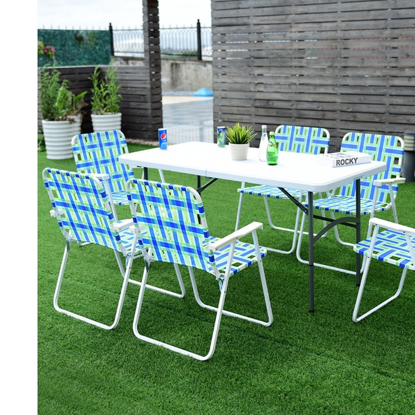 Awe Inspiring 6Pcs Folding Beach Chair Camping Lawn Webbing Chair Lightweight Pdpeps Interior Chair Design Pdpepsorg