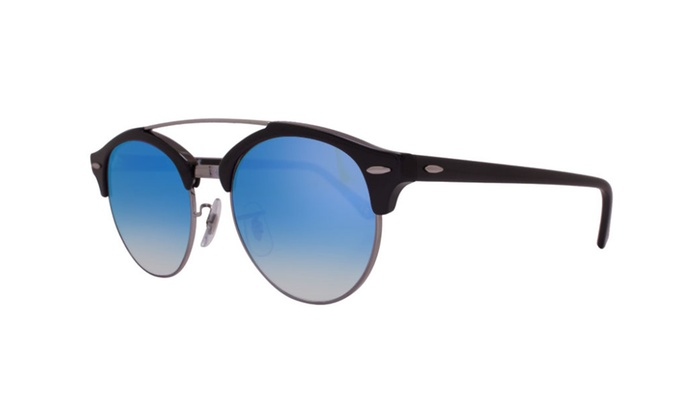 b5f50a3f9cd30 Ray Ban Clubround Double Bridge RB4346 62507Q 51 Black   Blue Gradient