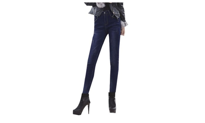 Women's Casual Casual Slim Fit Mid Rise Long Jeans