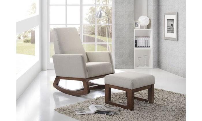 ... Crawley Modern Fabric Upholstered Rocking Chair: Crawley Modern Fabric Upholstered  Rocking Chair ...