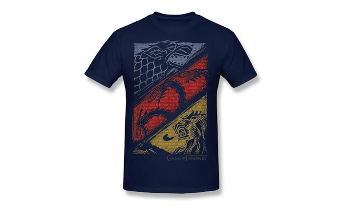 Sunny Z:  Men's Game Of Thrones Three Houses Adult T-Shirt Navy