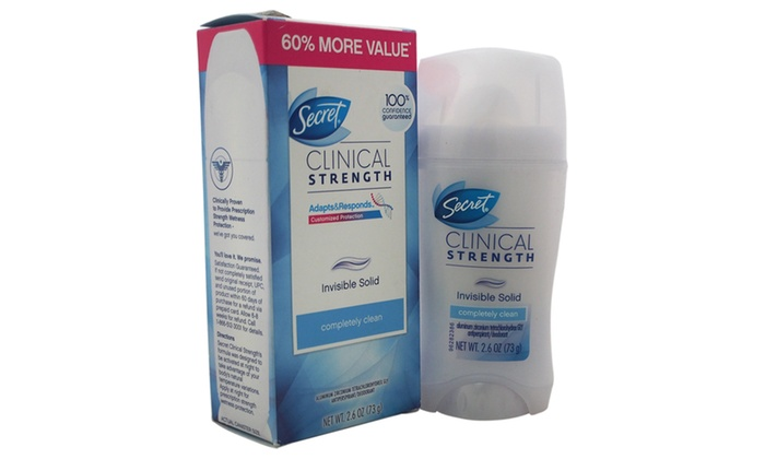 Groupon Goods: Secret Clinical Strength Invisible Solid Deodorant