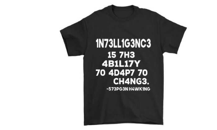 d88a83c7ebb Intelligence is The Ability to Adapt to Change - Brain Game T-Shirt ...
