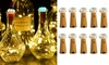 5-10 Pack LED Wine Bottle Light with Cork Mini Copper Wire Waterproof 15-20 Lamp Multi-color