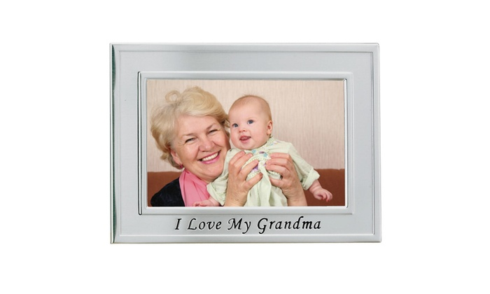 Brushed Metal 4x6 I Love Grandma Picture Frame - Sentiments ...