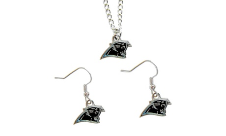 Carolina Panthers NFL Necklace And Dangle Earring Set 60c0fd65-2aaf-48c6-beca-24b74744c2b1