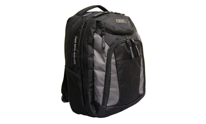 Kenneth Cole Take A Break 17″ Laptop Backpack – Black/Grey